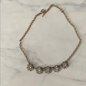 Crystal flower necklace.